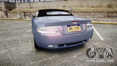 Aston Martin DB9 Volante 2005 VK Edition for GTA 4 back left view