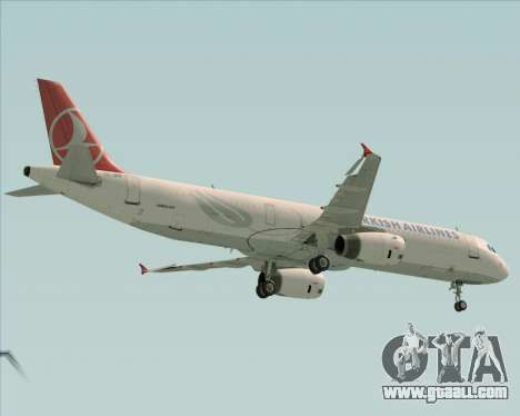 Airbus A321-200 Turkish Airlines for GTA San Andreas back view