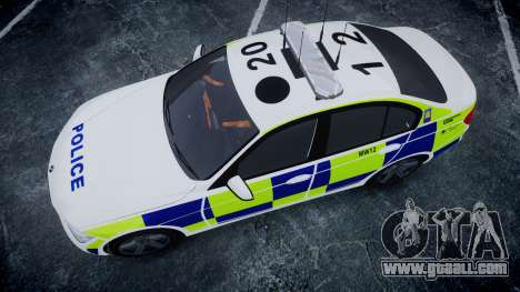 BMW 335i 2013 Central Motorway Police [ELS] for GTA 4 right view