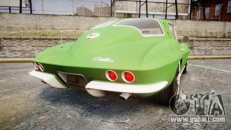 Chevrolet Corvette Stingray 1963 for GTA 4 back left view