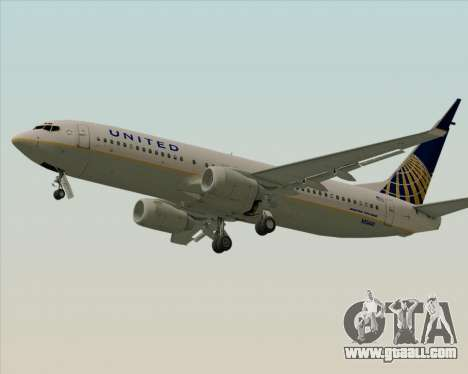 Boeing 737-824 United Airlines for GTA San Andreas back left view