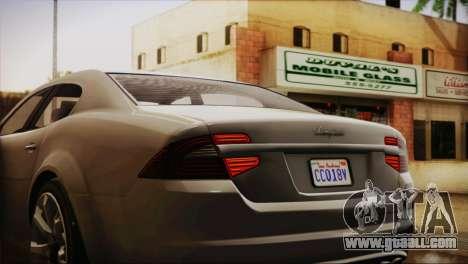 Lampadati Felon (IVF) for GTA San Andreas back view