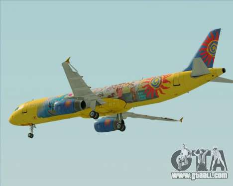 Airbus A321-200 for GTA San Andreas inner view