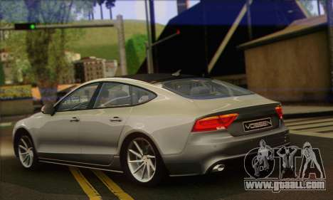 Audi A7 for GTA San Andreas left view