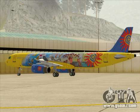 Airbus A321-200 for GTA San Andreas bottom view