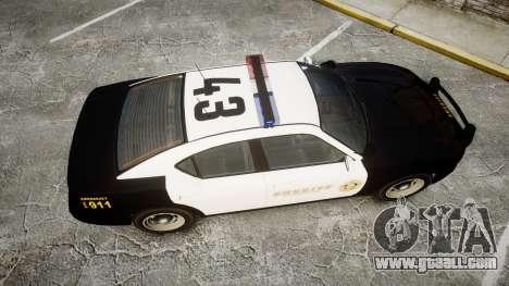 GTA V Bravado Buffalo LS Sheriff Black [ELS] for GTA 4 right view