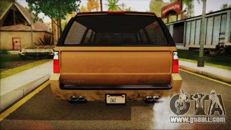 GTA 5 Granger for GTA San Andreas right view