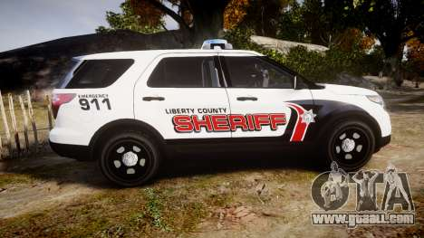 Ford Explorer 2013 LC Sheriff [ELS] for GTA 4 left view