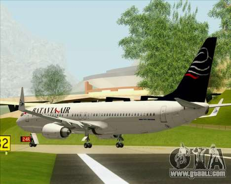 Boeing 737-800 Batavia Air for GTA San Andreas back view