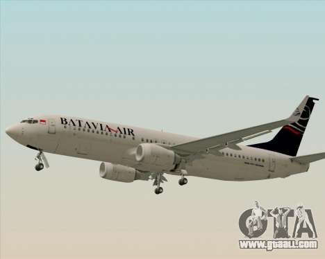 Boeing 737-800 Batavia Air for GTA San Andreas inner view
