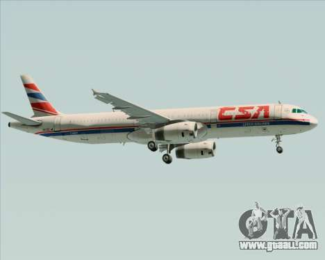 Airbus A321-200 CSA Czech Airlines for GTA San Andreas side view