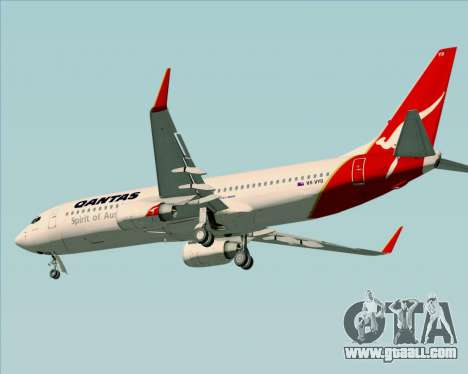 Boeing 737-838 Qantas (Old Colors) for GTA San Andreas back left view