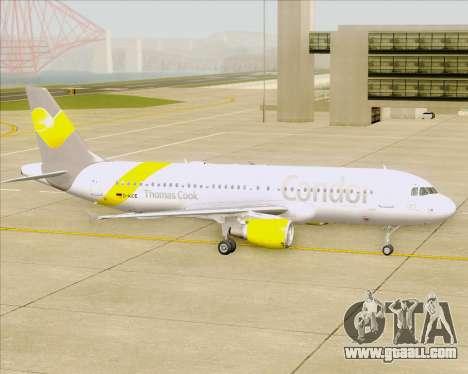 Airbus A320-212 Condor for GTA San Andreas upper view