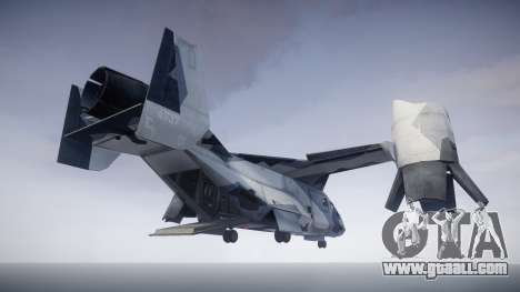 VTOL Warship PJ3 for GTA 4 back left view