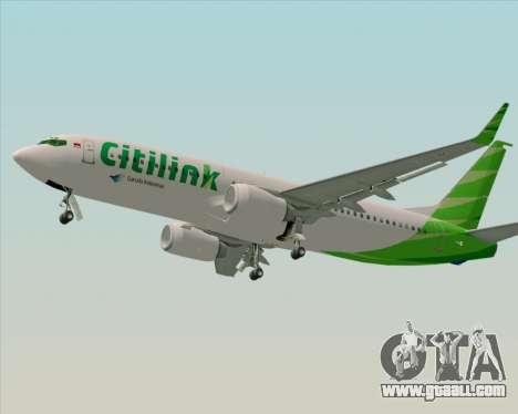 Boeing 737-800 Citilink for GTA San Andreas right view