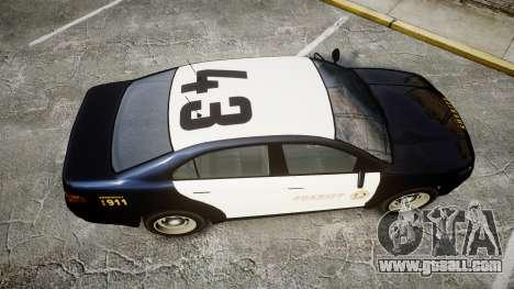 GTA V Vapid Interceptor LSS Black [ELS] Slicktop for GTA 4