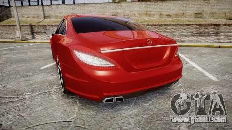 Mercedes-Benz CLS 63 AMG Vossen for GTA 4 back left view