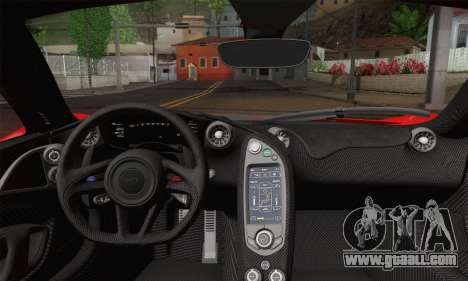 McLaren P1 HQ for GTA San Andreas back left view