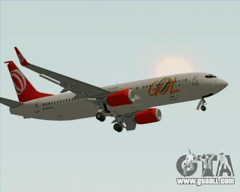 Boeing 737-800 Gol Transportes Aéreos for GTA San Andreas wheels