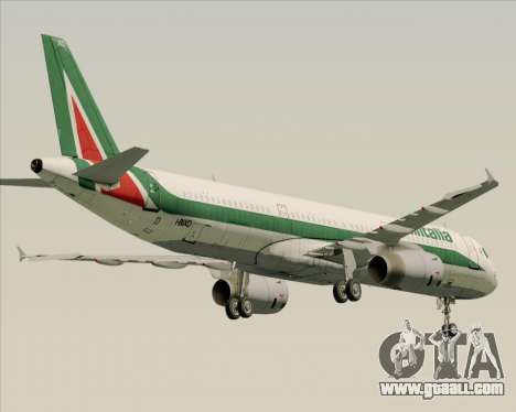 Airbus A321-200 Alitalia for GTA San Andreas back view