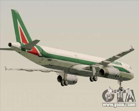 Airbus A321-200 Alitalia for GTA San Andreas back view