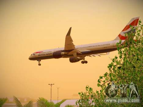 Boeing 757-236 British Airways for GTA San Andreas interior