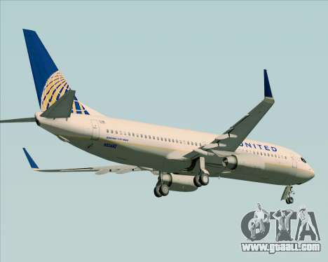 Boeing 737-824 United Airlines for GTA San Andreas wheels