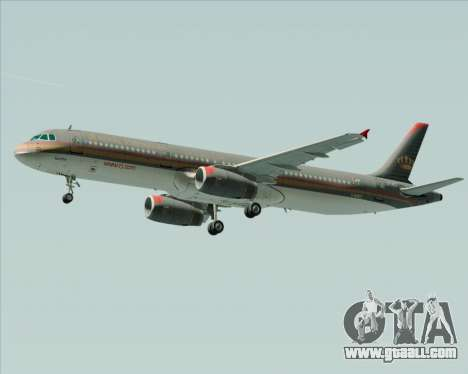 Airbus A321-200 Royal Jordanian Airlines for GTA San Andreas right view