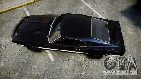 Shelby GT500 428CJ CobraJet 1969 for GTA 4 right view