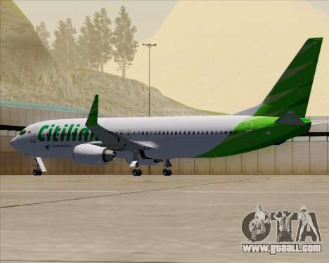 Boeing 737-800 Citilink for GTA San Andreas bottom view