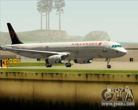 Airbus A321-200 Air Canada for GTA San Andreas bottom view