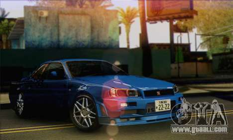 Nissan Skyline R-34 for GTA San Andreas