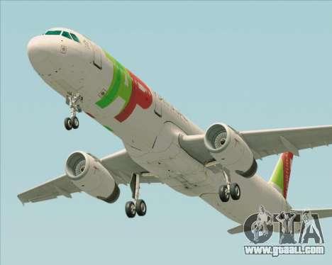 Airbus A321-200 TAP Portugal for GTA San Andreas back view