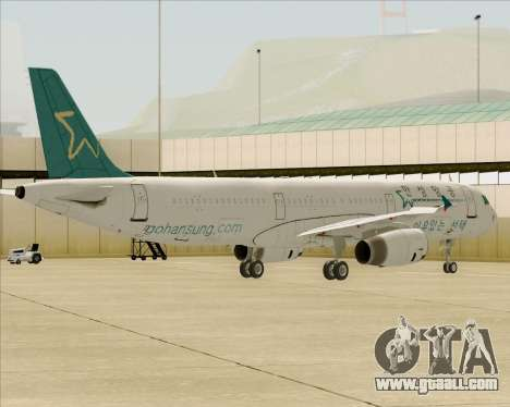 Airbus A321-200 Hansung Airlines for GTA San Andreas wheels