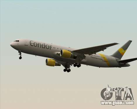 Boeing 767-330ER Condor for GTA San Andreas back left view