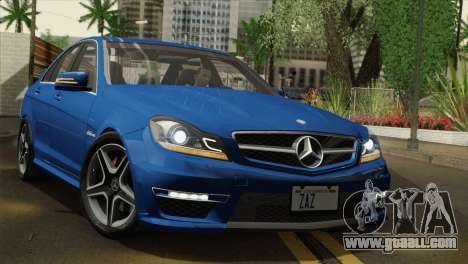 Mercedes-Benz C63 AMG Sedan 2012 for GTA San Andreas inner view
