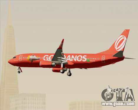 Boeing 737-800 Gol Transportes Aéreos for GTA San Andreas bottom view