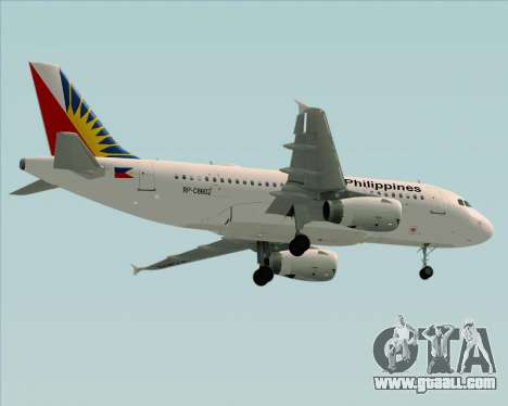 Airbus A319-112 Philippine Airlines for GTA San Andreas bottom view