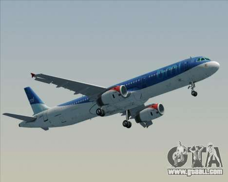 Airbus A321-200 British Midland International for GTA San Andreas right view