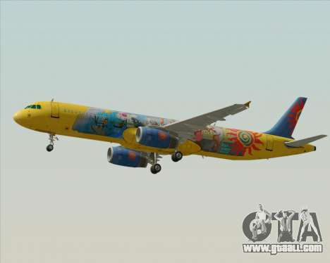 Airbus A321-200 for GTA San Andreas upper view