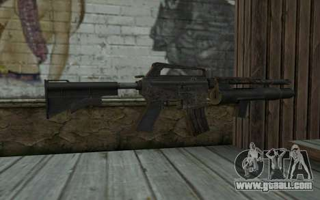 CAR-15 with XM-148 from Battlefield: Vietnam for GTA San Andreas second screenshot