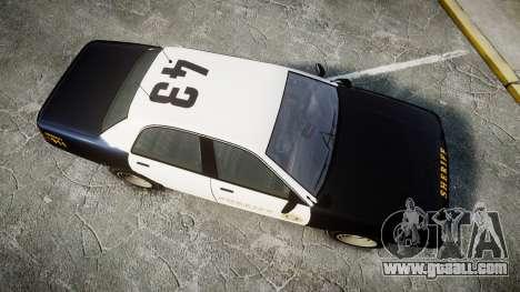 GTA V Vapid Cruiser LSS Black [ELS] Slicktop for GTA 4 right view