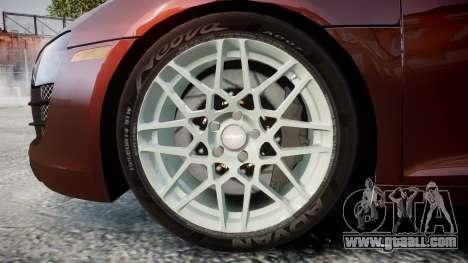 Audi R8 2010 Rotiform BLQ for GTA 4 back view