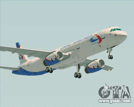 Airbus A321-200 Ural Airlines for GTA San Andreas back view