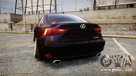 Lexus IS 350 F-Sport for GTA 4 back left view