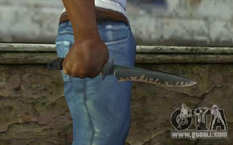 Knife from CS:S Bump Mapping v2 for GTA San Andreas third screenshot