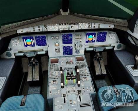 Airbus A321-200 Alitalia for GTA San Andreas interior