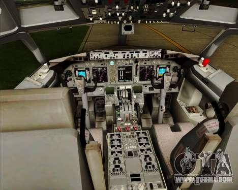 Boeing 737-838 Qantas (Old Colors) for GTA San Andreas interior