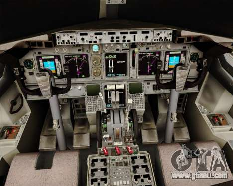 Boeing 737-824 United Airlines for GTA San Andreas interior