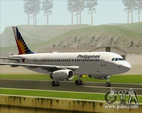 Airbus A319-112 Philippine Airlines for GTA San Andreas inner view